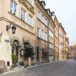 Rycerska (knight) street in the old town in Warsaw — Stock Photo