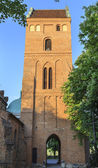 The tower of Church of the Visitation of the Blessed Virgin Mary, Warsaw — Stock Photo