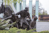 Monument to the heroes of the Warsaw Uprising — Stock Photo