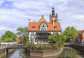 "Rebuilt ""Miller's House"" on the Mill Island in the Old Town of Gdansk, Poland — Stock Photo"
