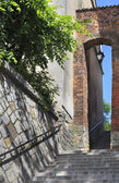 Dominican Gate, polish: Furta Dominikanska, old town in Sandomierz, Poland — Stock Photo