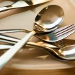 Plate and cutlery — Stockfoto