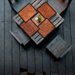Dining table setting outdoor — Stockfoto