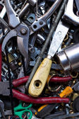 Assorted old hand tools — Stock Photo