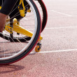 Stock Photo: Wheelchair sportsmen