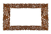 Carved wooden frame — Stock Photo