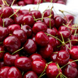 Fresh cherries in food market — Stock Photo