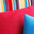Stock Photo: Colorful cushions in sofa.