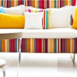 Stock Photo: Colorful sofa.