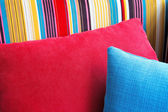 Colorful cushions in sofa. — ストック写真