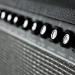 Close up image of guitar amplifier — Stock Photo #34230861