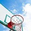 Outdoor basketball hoop — Stock Photo #34232801