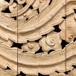 Carved wooden on wall — Stock Photo