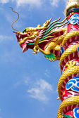 Statue de dragon de style chinois — Photo