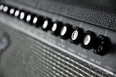Close up image of guitar amplifier — Stock Photo