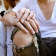 young couple holding hands — Stock Photo #34258977