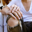 Stock Photo: Young couple holding hands