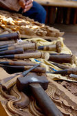 Nástroje pro dřeva používaného Carpenter — Stock fotografie