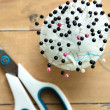 Sewing pins — Stock Photo