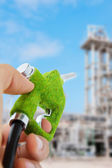 Bocal de combustível eco, conceito de energia — Fotografia Stock