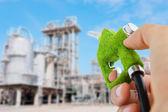 Eco fuel nozzle,energy concept — Stock Photo