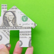 Banknote house icon — Stock Photo