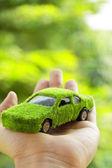 Eco car icon concept — Stock Photo