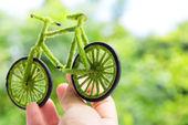 Green bicycle icon — Stockfoto
