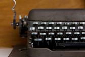 Close up image of vintage typewriter — Stock Photo