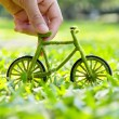 Green bicycle — Stock Photo #35024005