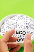 Hand hold eco sign — Stock Photo