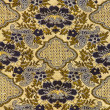 Close up of retro tapestry fabric pattern background — Stock Photo