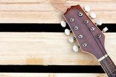 Mandolin headstock background — Stock Photo