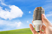 Eco light bulb — Stock Photo