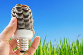 Eco light bulb concept — Stock Photo