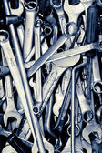 Assorted old hand tools background — Foto de Stock