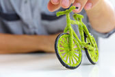 Green bicycle — Stock fotografie