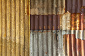 Old galvanized steel wall background — Photo