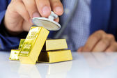 Gold bars concept — Stock Photo