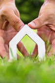 Hand Holding Icon House — Stock Photo