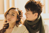 Dating young couple in love outdoor — 图库照片