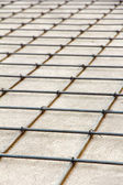 Detail of reinforced concrete,floor construction — Stock Photo