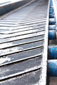 Rubber conveyer belt — Stock Photo