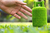 Green gas tank concept. — Stock Photo