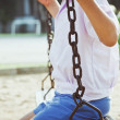 Stock Photo: Child swinging