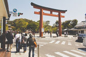 Tourists visit Kamakura Temple — Stock Photo