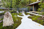The rock garden in an Hase Temple Hasedera — Stock Photo