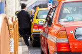 Taxi waiting area near the Ueno Park in Tokyo — Stock Photo