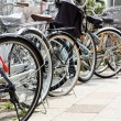 Lot of Bicycles parking — Stock Photo #46916897