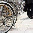 Lot of Bicycles parking — Stock Photo #46916901